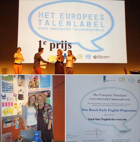 1e Prijs Europees Talenlabel 2014