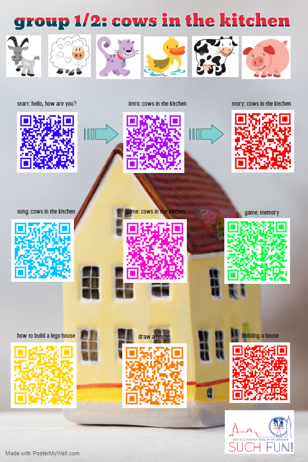 Group 1-2 Around the house QR poster