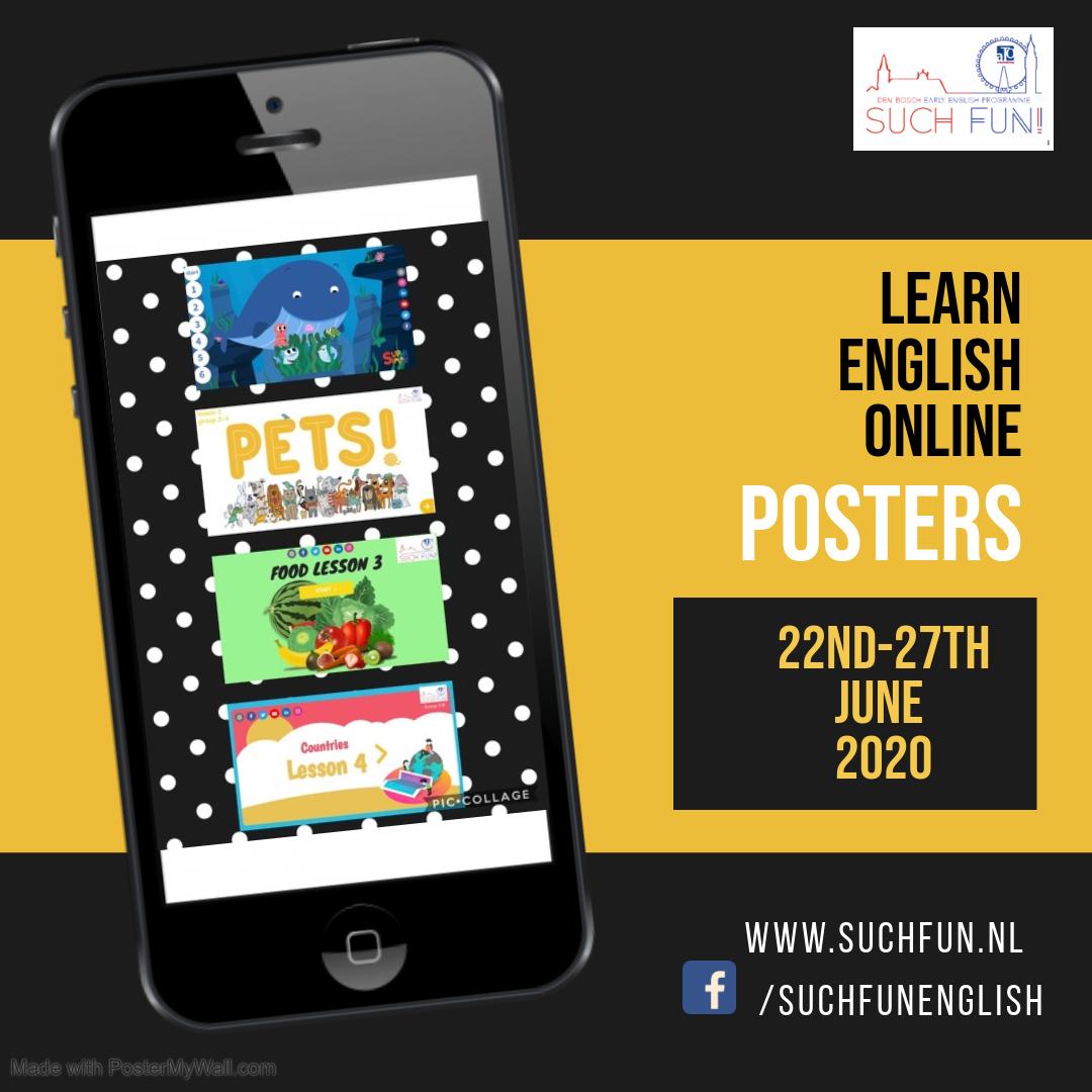 Engelse posters 22-26 juni