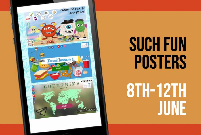 Weer naar school! 8-12 juni posters Engels