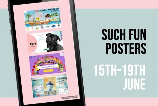 15-19 juni. Posters Engels